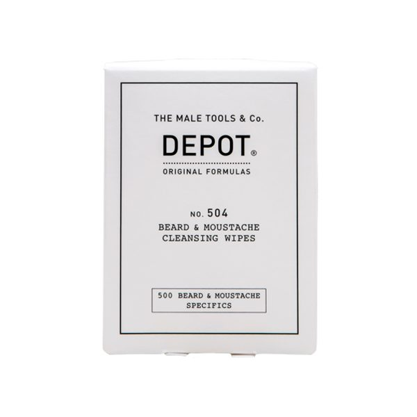 NO.504 BEARD & MOUSTACHE CLEANSING WIPES